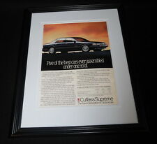 1990 Oldsmobile Cutlass Supreme Framed 11x14 ORIGINAL Vintage Advertisement
