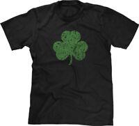Green Shamrock Distressed Irish Pride Ireland Proud St Patricks Day Mens Tee