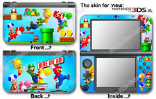 Super Mario Bros Classic Skin Sticker Cover Decal for NEW Nintendo 3DS XL