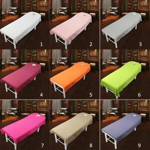 Bed Sheets Spa Cover Hole Massage Table Beauty Salon Treatment Travel Use Supply