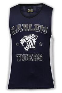 Brave Soul Authentic Apparel Men's Harlem Tigers Vest Jersey Size L BNWT