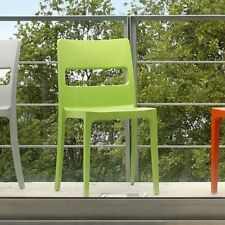 SCAB Stacking plastic garden Dining Chair Light Green