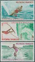 French Polynesia 1971 Sc#267-269,SG142-144 Water-skiing set MNH