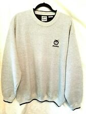 AKWA quality menswear Sweat shirt size L color grey with Alaska Logo pre owned