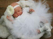 Butterfly Babies Poupée Réaliste Bébé Poupée Faux bébé fille blanc tutu Molly
