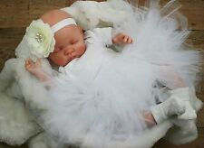 Butterfly Babies Reborn Baby Puppe Fake Baby Mädchen weiß Tutu Molly