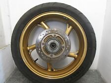 HONDA CBR 600 F FA 2013 REAR WHEEL WITH GOOD TYRE AND DISC   (8A)