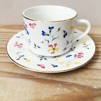 Totally Today Phlox China Floral Flat Cup And Saucer