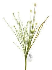 Artificial Wild Teasel Foliage Spray x 55cm - Cream - Wild Flower Meadow Bunch