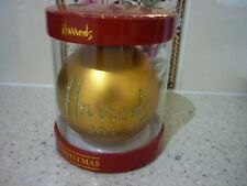 HARRODS 2019 CHRISTMAS BAUBLE GOLD DATED NEW UNOPENED