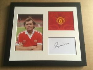 Hand Signed Framed Display - Ray Wilkins Manchester United Legend + COA