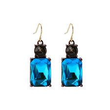 NEW Exquiste Anthropologie Modern Polaris Blue Glint Black Bead Earrings