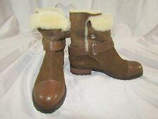 "MATT BERNSON ""Tundra"" Brown Suede & Leather Shearling Boots / Women's Size 8"