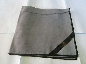 """USED GRAY STRIPED PATTERN COTTON 18""""POCKET SQUARE HANDKERCHIEF HANKY FOR MEN"""