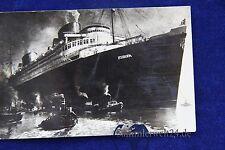 alte AK Schiff D. Europa N.D.L.  Seepost Stempel  Bremen / New York 1936