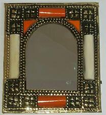 Marocchino realizzati a mano ricamato in Ottone & camel bone Specchio Design (3)