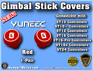 Yuneec Controller Gimbal Stick Covers ST10/ST10+/ST16-ST16s/ST24 - 2-Covers/Caps