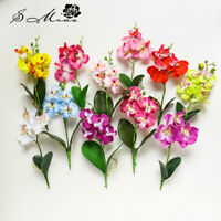 1pc Real Touch Artificial Silk Flower Butterfly Orchid Leaf Home Party Decor