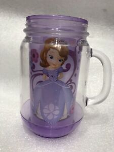 Disney's Sofia The First Mason Jar Style Purple Cup Preowned