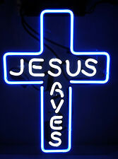 "Jesus Saves Home Led Neon Windows Bike Bootle Table Poster Bar Light Sign 12""X9"""