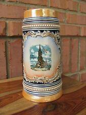 """German~Vintage~Stoneware~ 8½"""" Beer Stein~Ulm Donau"""