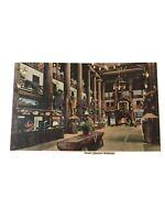 Glacier Park Hotel Montana Lobby Vintage Postcard Linen Unposted
