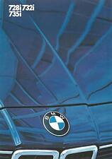 BMW 7 Series UK Market Brochure 1984 6 Page Fold Out Incl 728i 732i 735i Models