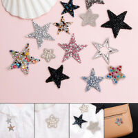 DIY Rhinestone Stars sequin star iron-on applique tshirt garment transfer patch~