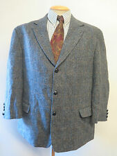 "Genuine Harris Tweed men's grey check blazer Jacket 48"" S Euro 58"