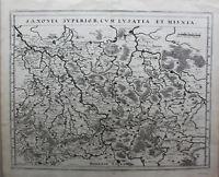 Kupferstichkarte Saxonia Superior, cum Lusatia et Misnia um 1630 Landkarte sf