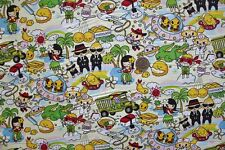 Kawaii Anime Hawaii Favorites Cream Cotton Fabric Yard