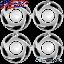 "4 NEW OEM SILVER 14"" HUB CAPS FITS FORD SUV MINIVAN CAR CENTER WHEEL COVERS SET"