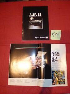 N°4470 / ALFA-ROMEO   catalogue berline 33  moteur 1.3 l et 1.5 l   octobre 1983