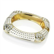 Gold Effect Crystal Detail & White Hinge Bracelet RRP £7.50 - Brand New & Tags