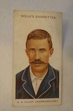1908 Vintage Wills Cricket Card - A.A. Lilley - Warwickshire.