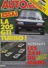 AUTO HEBDO n°525 du 4 Juin 1986 24h du MANS 205 GTI TURBO