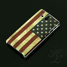 Sony Xperia U/st25i, funda rígida, funda protectora, funda, protección motivo estuche bandera americana américa cover