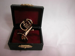 """Dollhouse Miniature Music  2"""" Baritone with case #Z222 Will Not Play"""