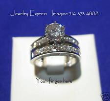 Diamond engagement /wedding set 2.25 tcw carats value 9850