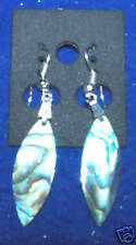New Ear Rings Dangle Genuine Paua Abalone Earrings