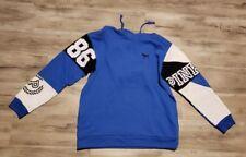 Victoria Secret PINK campus Hoodie Large blue/black NEW AUTHENTIC!!!!
