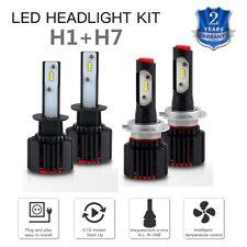 For Kia Sorento 03-06 Spectra 00-01 4x H7 & H1 LED Headlight 12000LM White Bulbs