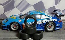 1/24 PAUL GAGE URETHANE SLOT CAR TIRES 2pr fit Carrera D124 Porsche 911/997 GT