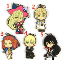Anime Tales of Berseria rubber Keychain Key Ring Race Straps cosplay