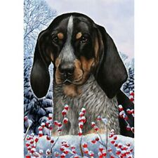 Winter House Flag - Bluetick Coonhound 15193