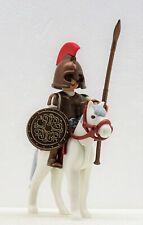 GRIECHISCHER KRIEGER ZU PFERD A PLAYMOBIL zu Elite König Römer Sparta Bronze RAR