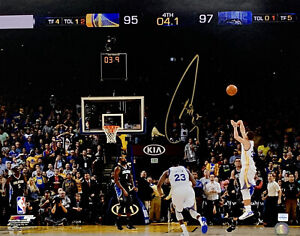 Stephen Steph Curry Signed 2015 Game-Winner 16x20 Photo Autographed Curry COA