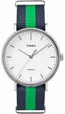 Timex Watch TW2P90800 man woman case steel indiglo weekender nylon green