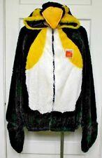 Penguin Sweatshirt Costume by Target Zip Front Hoodie Fuzzy One Size Unisex New
