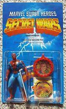 Spanish Secret Wars Spider-Man mint Unpunched w/ Catalog Mattel 1984 MOC